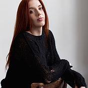 Одежда ручной работы. Ярмарка Мастеров - ручная работа Черный свитер Гранж. Handmade.