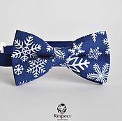 handmade. Livemaster - original item Tie Crystal Ice / blue butterfly tie, Christmas. Handmade.
