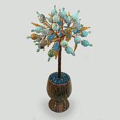 Цветы и флористика ручной работы. Ярмарка Мастеров - ручная работа Дерево счастья из амазонита в вазочке из оникса. Handmade.