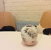 Винтаж ручной работы. Ярмарка Мастеров - ручная работа 80-е гг Японская фарфорофая вазочка для бутонов. Handmade.