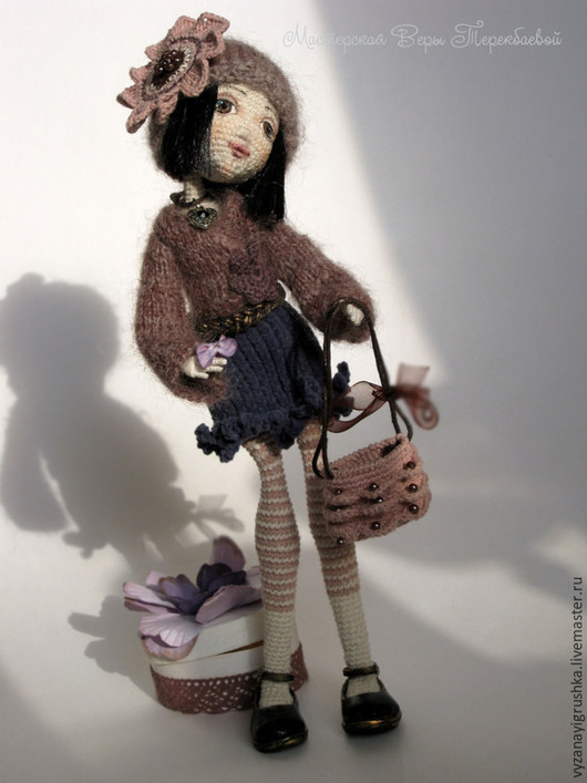Коллекционные куклы ручной работы. Ярмарка Мастеров - ручная работа. Купить Игрушка вязаная очаровательная Кэтрин. Handmade. Разноцветный