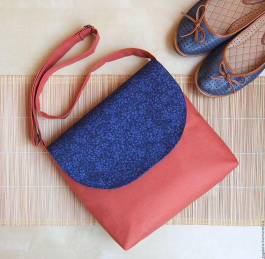 Женские сумки ручной работы. Ярмарка Мастеров - ручная работа. Купить Рыжая сумочка через плечо. Handmade. Рыжий