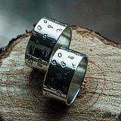 """Украшения ручной работы. Ярмарка Мастеров - ручная работа Серебряные кольца """"Любовь!"""" - широкие обручальные кольца из серебра. Handmade."""