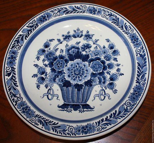 Винтажные предметы интерьера. Ярмарка Мастеров - ручная работа. Купить Коллекционная тарелка, ручная работа, Royal Goedewaagen, Голландия. Handmade.