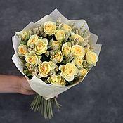 Букеты ручной работы. Ярмарка Мастеров - ручная работа Букеты: Букет из кустовых роз со злаками. Handmade.