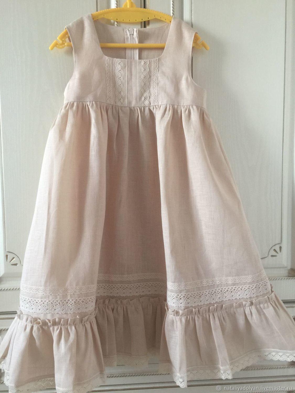 f14d73f0cd148 Linen dress for girl