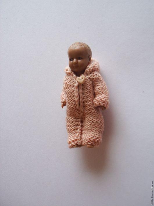 Одежда для кукол ручной работы. Ярмарка Мастеров - ручная работа. Купить Комбинезон на мини куколку. Handmade. Кремовый, одежда для кукол