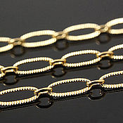 Материалы для творчества handmade. Livemaster - original item 50cm Chain with 3,5 mm texture (thickness) gold plated U. Korea (2697). Handmade.