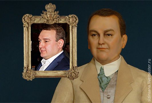 Парадный портрет (кукла по фото), Портретная кукла, Москва,  Фото №1