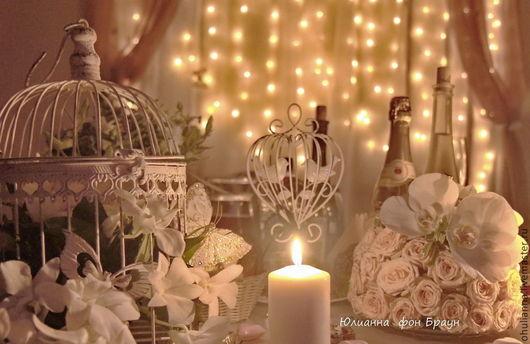 Свадебные цветы ручной работы. Ярмарка Мастеров - ручная работа. Купить свадебное оформление торжества в РОМАНТИЧЕСКОМ СТИЛЕ. Handmade. Бежевый