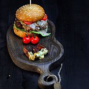Cutting Boards handmade. Livemaster - original item Board for the submission of burgers and meat,