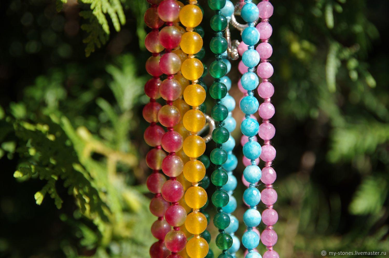 Разноцветные бусы из натуральных камней, , Самара, Фото №1