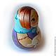 Неваляшка `Оленька Матрёшкина с пуделем`  (со звоном) Порадует как взрослого, так и ребёнка.