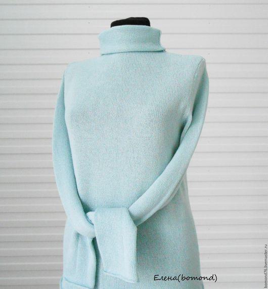 Кофты и свитера ручной работы. Ярмарка Мастеров - ручная работа. Купить Водолазка. Handmade. Мятный, меринос, вязание для женщин