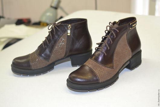 Обувь ручной работы. Ярмарка Мастеров - ручная работа. Купить Ботильоны Веринея. Handmade. Коричневый, женская обувь
