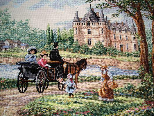 Люди, ручной работы. Ярмарка Мастеров - ручная работа. Купить Замок леди Шато. Handmade. Разноцветный, замок, леди, картина