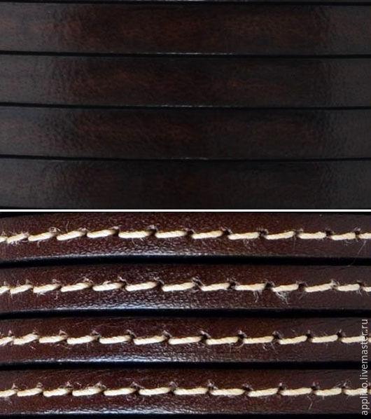 Для украшений ручной работы. Ярмарка Мастеров - ручная работа. Купить ШНУР КОЖАНЫЙ 5х2мм. ГОРЬКИЙ  ШОКОЛАД (ДВА вида). Handmade.