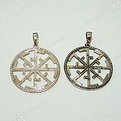 Русский стиль handmade. Livemaster - original item Svetoch-Svitovit (double-sided amulet). Handmade.