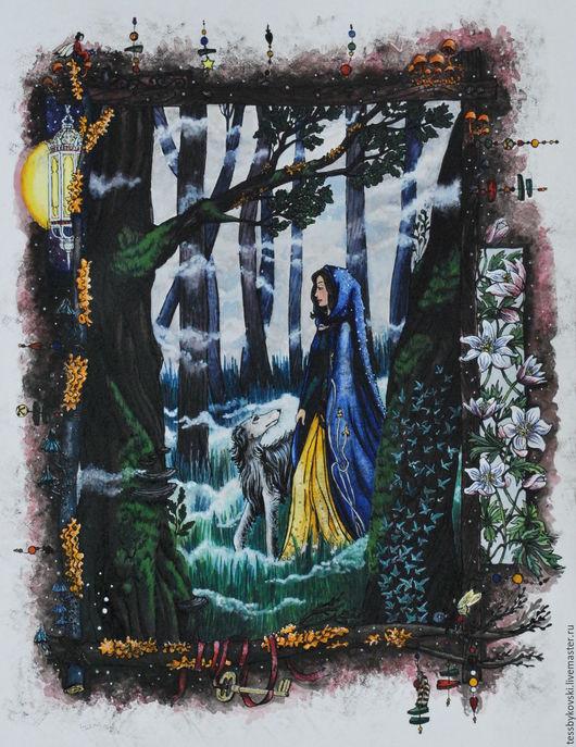 серия `The Secret Forest`  4/9  `Прогулка Эльфа` Тася Быкова