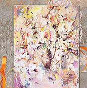 Картины и панно ручной работы. Ярмарка Мастеров - ручная работа Репродукция  «Симфония карамельных оттенков» 70/50см. Handmade.