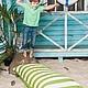 Комплекты аксессуаров ручной работы. Ярмарка Мастеров - ручная работа. Купить Морская коллекция Kozaa's Bags, подушка в зеленую полоску. Handmade.