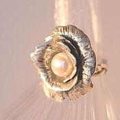 """Украшения ручной работы. Ярмарка Мастеров - ручная работа """"Белая роза"""" - серебряное кольцо.. Handmade."""