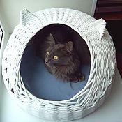 Для домашних животных, ручной работы. Ярмарка Мастеров - ручная работа Домик с ушками для кошки. Handmade.