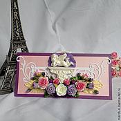 Открытки ручной работы. Ярмарка Мастеров - ручная работа Свадебный подарочный конверт. Handmade.