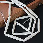 handmade. Livemaster - original item Thread 40cm Buffalo Bone bleached tube 50h8mm. Handmade.