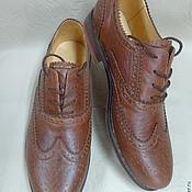 """Обувь ручной работы. Ярмарка Мастеров - ручная работа Мужские ботинки """"оксфорды"""". Handmade."""