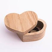 handmade. Livemaster - original item Wooden Heart Box for rings. Handmade.