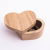 Материалы для творчества handmade. Livemaster - original item Wooden box-heart ring. Handmade.