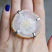 Украшения handmade. Livemaster - original item Ring with agate and quartz. Handmade.