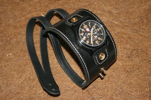 Пояса, ремни ручной работы. Ярмарка Мастеров - ручная работа. Купить Ремешок для часов(браслет-напульсник). Handmade. Ремешок для часов, кожа