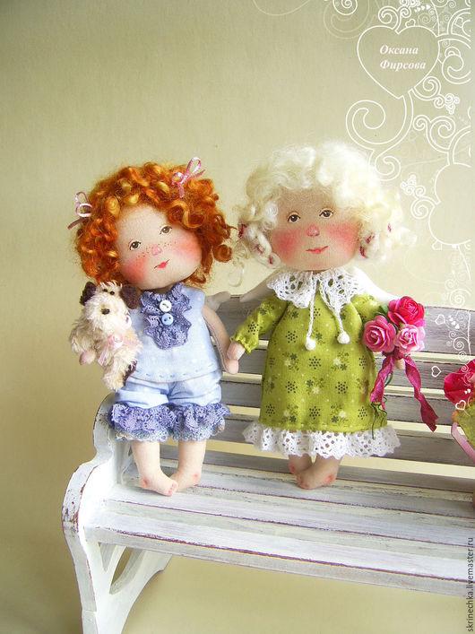 Коллекционные куклы ручной работы. Ярмарка Мастеров - ручная работа. Купить Моя любимая собачка текстильная интерьерная куколка  в подарок. Handmade.