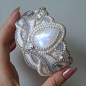 """Украшения ручной работы. Ярмарка Мастеров - ручная работа Браслет """"Pearl moon"""" с адуляром.. Handmade."""