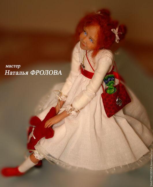 """Коллекционные куклы ручной работы. Ярмарка Мастеров - ручная работа. Купить """"И сново..."""". Handmade. Полимерная глина, мохер"""