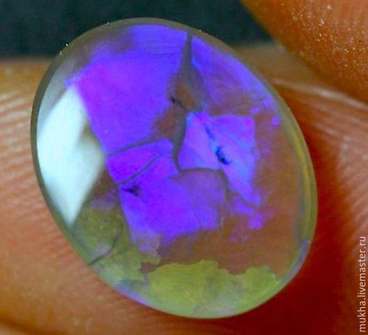 """Для украшений ручной работы. Ярмарка Мастеров - ручная работа. Купить Опал """"Фиолетовый"""". Кабошон. Handmade. Сиреневый, ювелирные камни"""