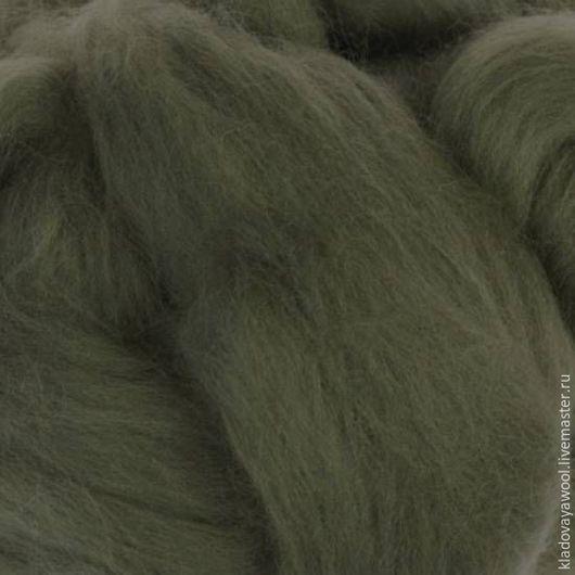 Валяние ручной работы. Ярмарка Мастеров - ручная работа. Купить Меринос18мкр (Италия) цвет Мох. Handmade. Меринос итальянский