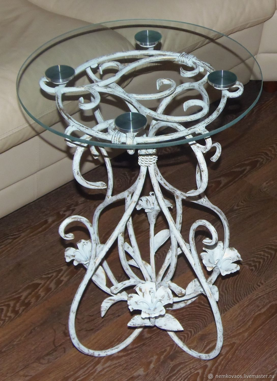 White Wrought iron coffee table, Tables, Yoshkar-Ola,  Фото №1