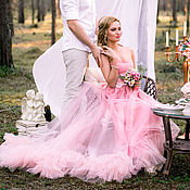 Одежда ручной работы. Ярмарка Мастеров - ручная работа Пудровое платье. Handmade.