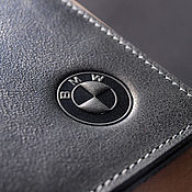 Канцелярские товары handmade. Livemaster - original item Cover for auto documents / / / BMW. Handmade.