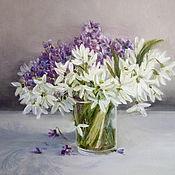Pictures handmade. Livemaster - original item The first flowers. Handmade.