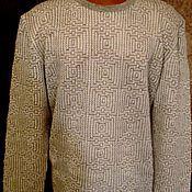 Одежда handmade. Livemaster - original item 100% linen.Men`s cardigan with long sleeve