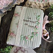 """Канцелярские товары ручной работы. Ярмарка Мастеров - ручная работа Блокнот """"La tendresse de roses"""". Handmade."""