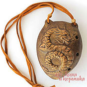 "Музыкальные инструменты handmade. Livemaster - original item Hand-made clay Ocarina (Tin whistle) ""Dragon"".Exclusive whistle. Handmade."
