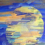 Картины и панно ручной работы. Ярмарка Мастеров - ручная работа Картина. Луна. Handmade.