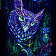 Order Psychedelic forest painting 'Mystic Owl'. Fractalika. Livemaster. . Pictures Фото №3