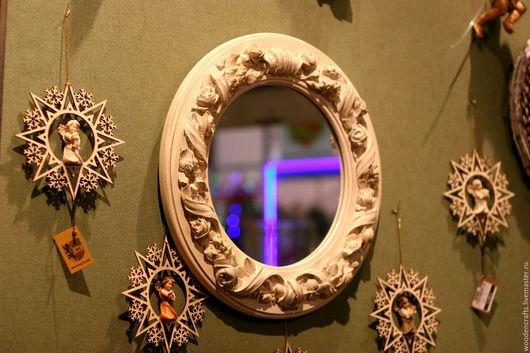 Зеркала ручной работы. Ярмарка Мастеров - ручная работа. Купить Зеркало из дерева. Handmade. Белый, шебби, белое зеркало