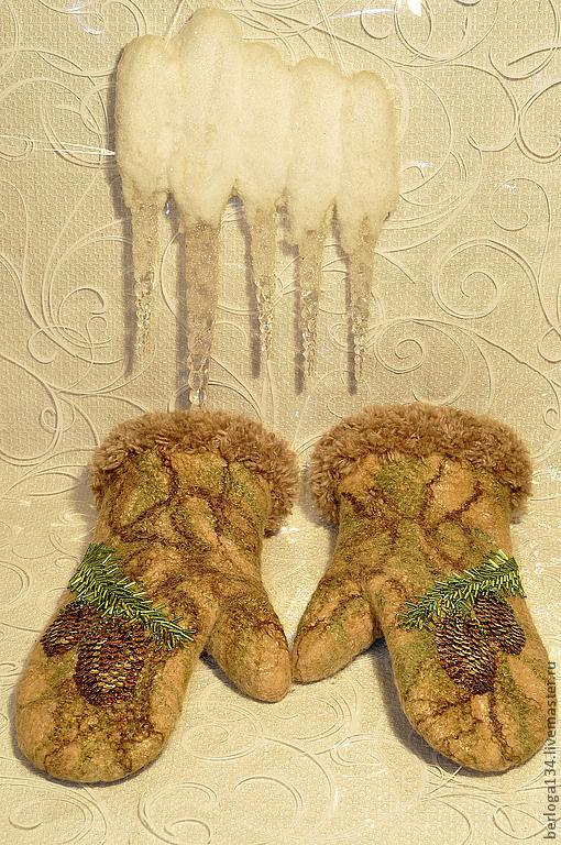 """Варежки, митенки, перчатки ручной работы. Ярмарка Мастеров - ручная работа. Купить Варежки """"Сказочный лес"""". Handmade. Орнамент"""